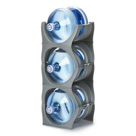 ユーウォーターボトルラック シルバー【U-shape5枚】ガロンボトル収納 ウォーターサーバー 水ボトル