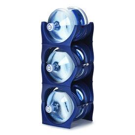 ユーウォーターボトルラック ブルー【U-shape5枚】ガロンボトル収納 ウォーターサーバー 水ボトル