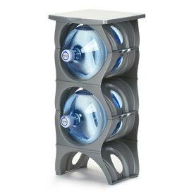 ユーウォーターボトルラック シルバー【U-shape5枚+Shelf】ガロンボトル収納 ウォーターサーバー 水ボトル