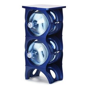 ユーウォーターボトルラック ブルー【U-shape5枚+Shelf】ガロンボトル収納 ウォーターサーバー 水ボトル