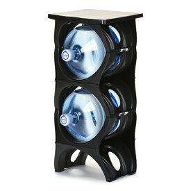 ユーウォーターボトルラック ブラック【U-shape5枚+Shelf】ガロンボトル収納 ウォーターサーバー 水ボトル