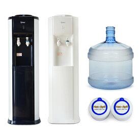 最新ウォーターサーバーと12Lボトル(キャップ10個付き)を破格値で!ウォーターサーバー904Hボトルセット 床置きウォーターサーバー 本体 冷水 温水 本格コンプレッサー冷却 ボトル付き 水道水