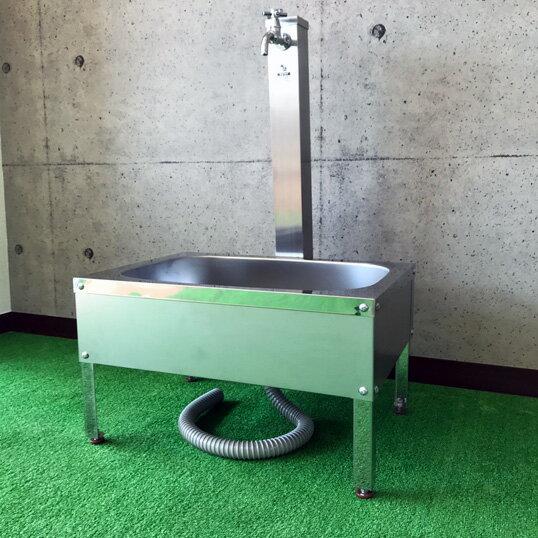 ガーデンパン DIY 流し台 屋外 水栓 簡易流し台 ガーデニング 家庭菜園ステンレス ガーデンシンク H350【WT600S】【送料無料】