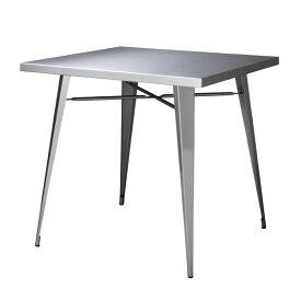 ダイニング テーブル 正方形 ステンレス おしゃれ 食卓 キッチン 机 スタイリッシュ インテリア 家具 東谷【STN-337】