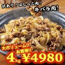 肉宝箱 訳あり はしっこ 送料無料 肉 牛バラ肉 詰め合わせ 4kg お試し