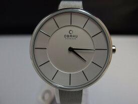 オバック OBAKU クオーツ腕時計 レディース ホワイト/シルバー V185LXCIMC 【中古】