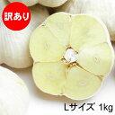 【期間限定】青森にんにく 訳ありLサイズ 1kg 福地ホワイト六片種 令和元年