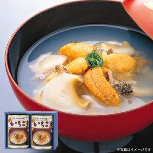 ウニとアワビの潮汁『味の加久の屋元祖いちご煮415g×2缶』[※化粧箱入]【送料無料】