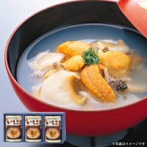 ウニとアワビの潮汁『味の加久の屋元祖いちご煮415g×3缶』[※化粧箱入]【送料無料】
