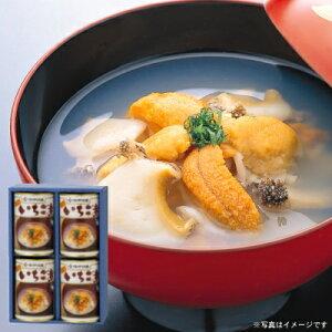 ウニとアワビの潮汁『味の加久の屋元祖いちご煮415g×4缶』[※化粧箱入]【送料無料】
