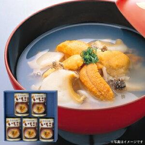 ウニとアワビの潮汁『味の加久の屋元祖いちご煮415g×5缶』[※化粧箱入]【送料無料】