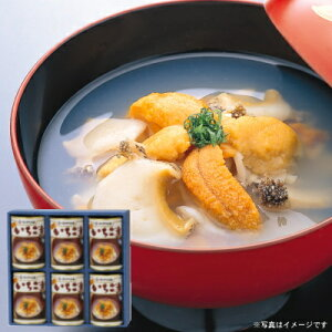 ウニとアワビの潮汁『味の加久の屋元祖いちご煮415g×6缶』[※化粧箱入]【送料無料】