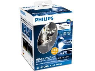 PHILIPS (飛利浦) LED 燈泡 extreemultinon H4Hi/低前照燈 6700 K