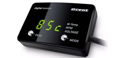 DMC-G(緑表示) CAN通信車用 簡易取リ付ケデジタルメーター 「水温」「回転」「電圧」【DMC】PIVOT(ピボット)