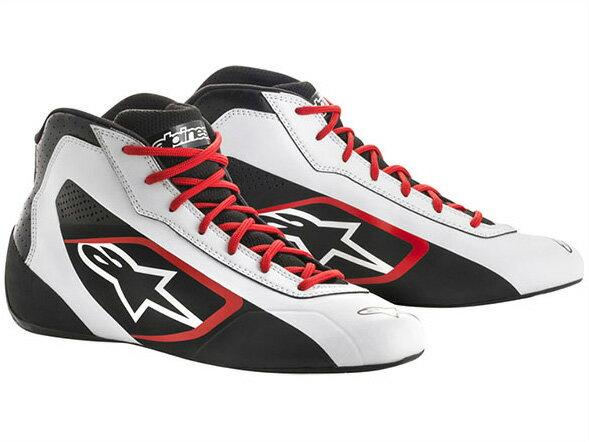 カートレーシングシューズ TECH1-K STARTシューズ 213 WHITE BLACK RED alpinestars(アルパインスターズ)