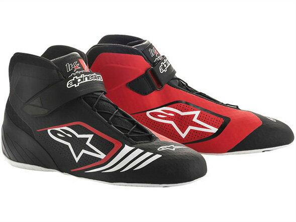 カートレーシングシューズ TECH1-KXシューズ 132 BLACK RED WHITE alpinestars(アルパインスターズ)