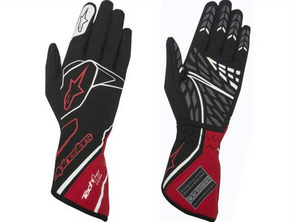 オートレーシンググローブ TECH1-Z グローブ 132 BLACK RED WHITE alpinestars (アルパインスターズ)