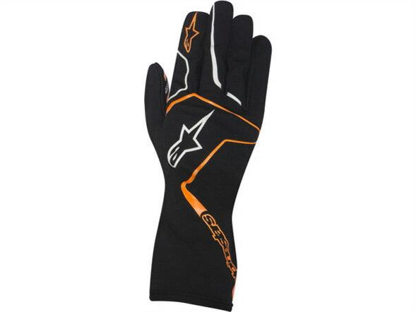 カートレーシンググローブ TECH1-K RACE グローブ 156 BLACK ORANGE FLUO alpinestars (アルパインスターズ)