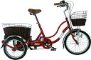 SWING CHARLIE ノーパンク三輪自転車G / 20インチノーパンク三輪自転車 カラー:ワインレッド mg-trw20ng