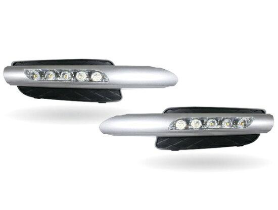 最大 LED 日間運行燈與進氣口寶馬 E70/X5 為黑色的空氣進氣銀裝飾與 autoparts ELS