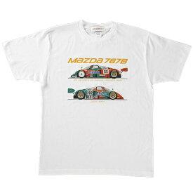 MZレーシング マツダ787B イラストTシャツ キッズサイズ
