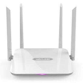 「国内配送」大セール!!WAVLINK 1200Mbps WiFi ルーター ギガビット AC1200 ハイパワーワイヤレス Wi-Fiルーター デュアルバンド 5Ghz+2.4Ghz 2x2 5dBiアンテナインターネットルーター AP//WISP/ルーター