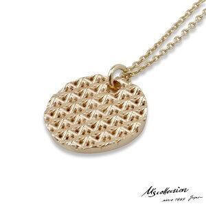 エムズコレクション スタッズ コイン ペンダント ネックレス 55cm アズキチェーン K10ゴールド メンズ ブランド