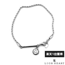 ライオンハート LION HEART レオ アンクレット ロープチェーン サージカルステンレス シルバー メンズ ブランド