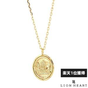 【ポイント10倍*4日はMAX36倍】 ライオンハート LION HEART イギリス国章コイン プチネックレス K10ゴールド イエローゴールド メンズ ブランド