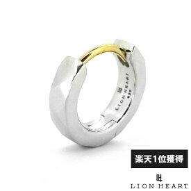 ライオンハート LION HEART カッティング フープ ピアス シルバー925 シルバー メンズ ブランド