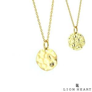 【ポイント10倍*4日はMAX36倍】 ライオンハート LION HEART プルメリアコインネックレス K18ゴールド イエローゴールド メンズ ブランド