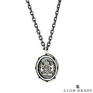 【ポイント10倍*4日はMAX36倍】 ライオンハート LION HEART イギリス国章コイン プチネックレス シルバー925 シルバー メンズ ブランド