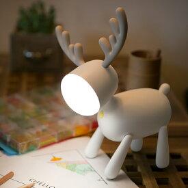 WAYONE トナカイ ナイトライト 夜間ライト クリスマス プレゼント ベッドサイドランプ 寝室用 色温度・明るさ調節可能