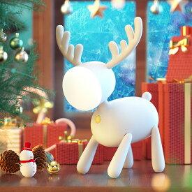 WAYONE トナカイ ナイトライト 夜間ライト プレゼント ベッドサイドランプ 寝室用 色温度・明るさ調節可能