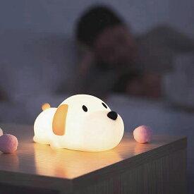 WAYONE 授乳ライト ナイトライト おやすみライト 夜間ライト コードレス 常夜灯 子供部屋 照明 かわいい USB充電 犬 ベッドサイドライト 子供安全素材 寝室用 色温度・明るさ調節可能 タッチ式 柔らか素材 ワンちゃん 出産祝い プレゼント