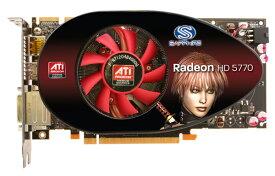 SAPPHIRE RADEON HD5770 1G 128BIT GDDR5 Channel Version 21163-10-20R【中古】