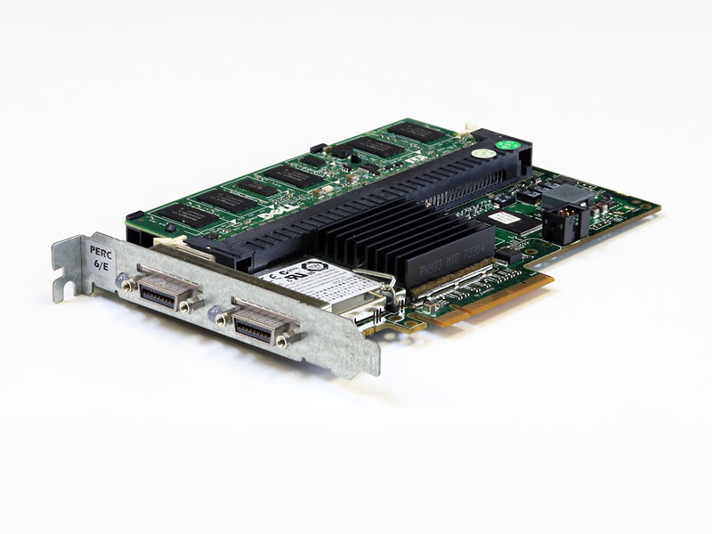 0FY374 DELL PERC 6/E SAS RAIDコントローラー PCI Express x8 512MBキャッシュメモリ+BBU搭載【中古】【送料無料セール中! (大型商品は対象外)】
