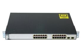 WS-C3750-24PS-S V08 Cisco Systems 10/100 PoEポート x24/1000SFP x2 初期化済み【中古】【送料無料セール中! (大型商品は対象外)】