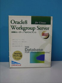 Oracle8 Workgroup Server for Linux R8.0.5 5同時ユーザー/10クライアント 【中古】