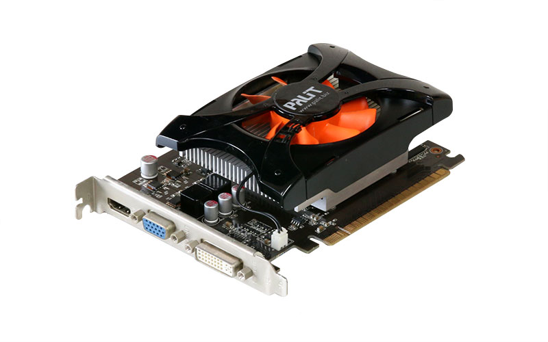 Palit Microsystems GeForce GT630 1GB Dual-Link DVI/VGA/HDMI PCI Express2.0 x16 NE5T6300HD01-1083F【中古】【送料無料セール中! (大型商品は対象外)】
