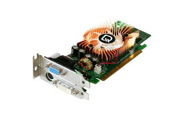 LEADTEK GeForce 8500GT 256MB DVI/VGA/TV-out PCI Express x16 WinFast PX8500 GT TDH Low Profile【中古】
