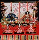 風呂敷弥生雛レーヨン中巾(約50cm巾)