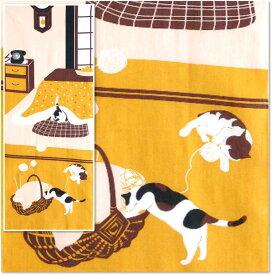 【 捺染 手ぬぐい 】 こたつねこ [ 日本のかたち 猫 ねこ ネコ 炬燵 タペストリー 和風 インテリア 飾り ディスプレイ ディスプレー 四季 季節 冬 12月 1月 2月 日本土産 日本 みやげ]