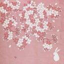 風呂敷(ふろしき)四季彩布 二巾(70cm)風呂敷 花見うさぎ(4月)【桜(さくら)・お花見・兎(うさぎ)・春】