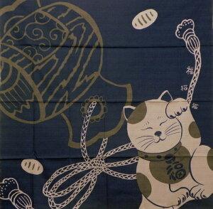 風呂敷 開運ふろしき 招き猫と小槌綿 二四巾(90cm) 大判風呂敷御祝 内祝 ギフト 海外へのお土産 一升餅 内祝 結婚祝 お祝い 長寿 引出物