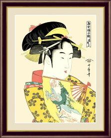 絵画 喜多川 歌麿 浮世絵 美人画 F6サイズ 道成寺 受注生産品 全国送料無料 代引き手数料無料