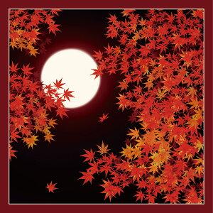 風呂敷 ふろしき 日本の秋 50cm 中巾 綿小風呂敷 名入れ・ギフト・メール便対応 内祝 結婚祝 お祝い 長寿 引出物