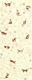 [気音間]注染 手ぬぐい さくら猫 日本手拭い(てぬぐい)春 桜(サクラ) 和風 動物 ネコ かわいい