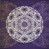 日式环绕的大 (112 厘米) 和弦圆镜子紫色 3 宽度