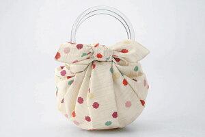 風呂敷 いちごバッグ 二巾モダンガールふろしき 和洋こんぺいとう(ベージュ) ちょっとしたお買い物のお供やプレゼントに内祝 結婚祝 お祝い 長寿 引出物